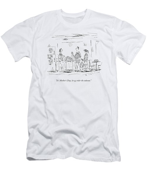 A Husband And Children Speak To A Mother Men's T-Shirt (Athletic Fit)