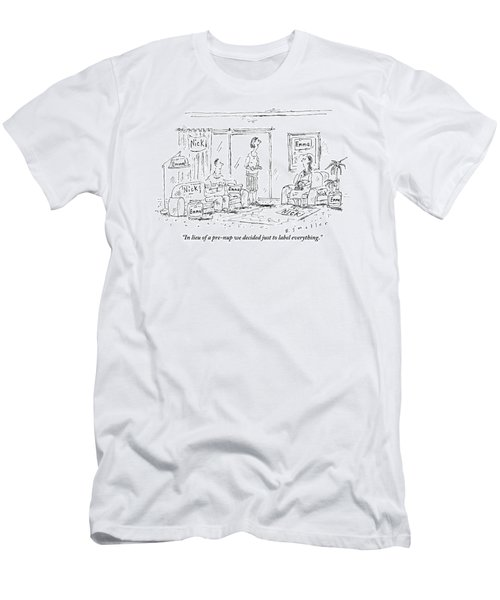A Husband And Wife Talk To A Friend Men's T-Shirt (Athletic Fit)