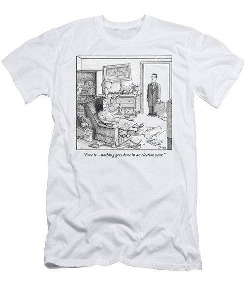 A Husband Walks Into A Trashed Room Men's T-Shirt (Athletic Fit)