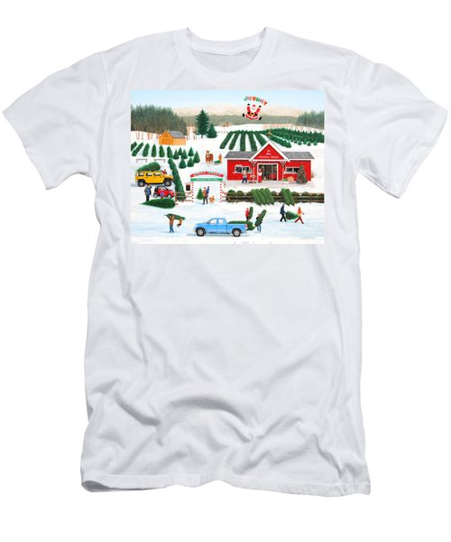 A Jolly Holly Holiday Men's T-Shirt (Athletic Fit)