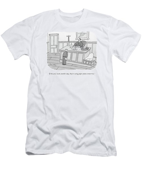 A Judge Washes Dishes In A Sink At His Desk Men's T-Shirt (Athletic Fit)