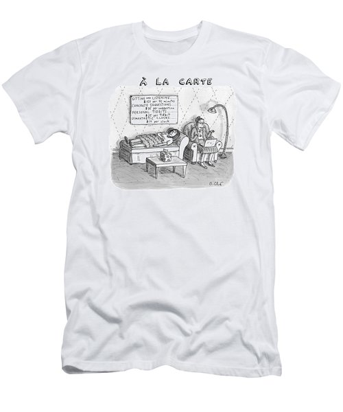 A La Carte -- Therapy Where A Placard Lists Men's T-Shirt (Athletic Fit)