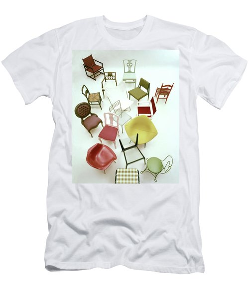 A Large Group Of Chairs Men's T-Shirt (Athletic Fit)