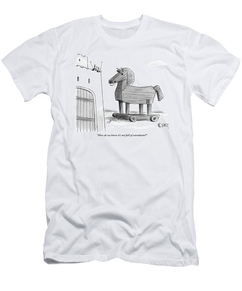 A Large Wooden Horse Men's T-Shirt (Athletic Fit)
