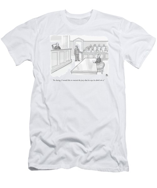 A Lawyer In Court Addresses The Jury Men's T-Shirt (Athletic Fit)