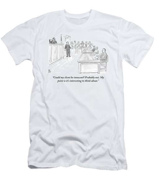 A Lawyer Makes His Case In Front Of A Jury Men's T-Shirt (Athletic Fit)