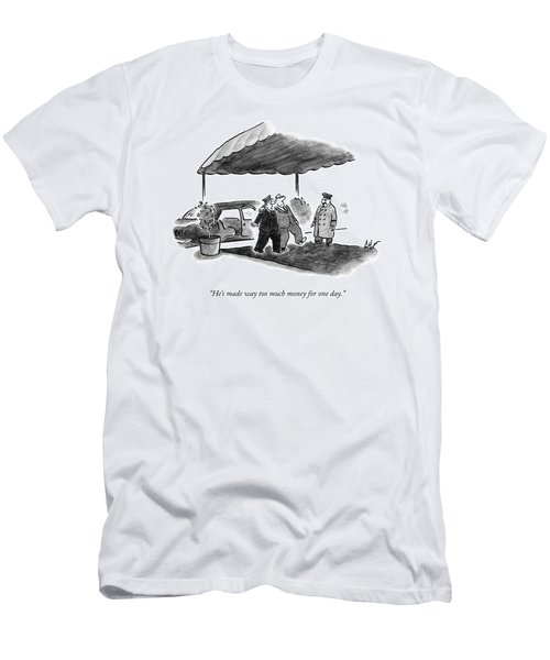 A Limousine Driver Helps A Drunk-looking Ceo Walk Men's T-Shirt (Athletic Fit)