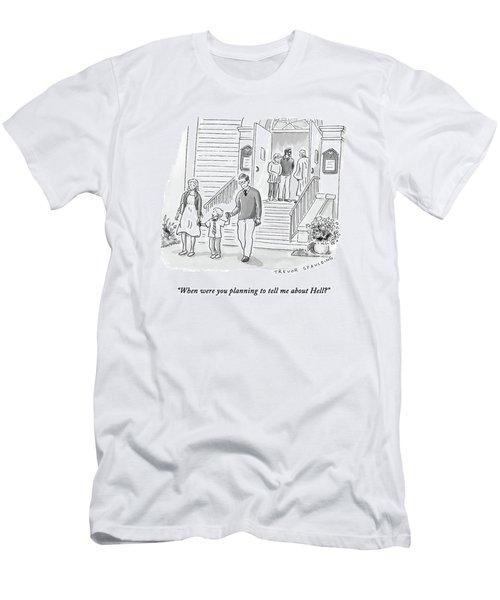 A Little Boy Speaks To His Parents Men's T-Shirt (Athletic Fit)