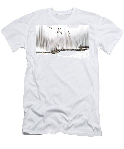 A Little Winter Magic Men's T-Shirt (Slim Fit) by Andrea Kollo
