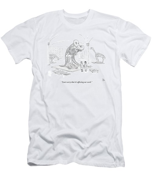 A Male And Female Paleontologist Men's T-Shirt (Athletic Fit)