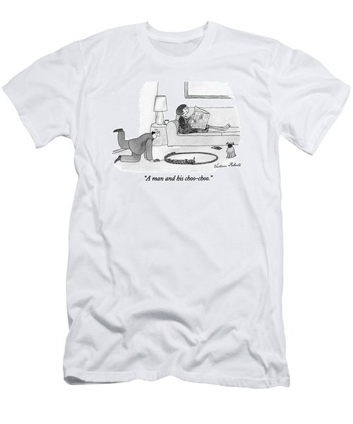 A Man And His Choo-choo Men's T-Shirt (Athletic Fit)
