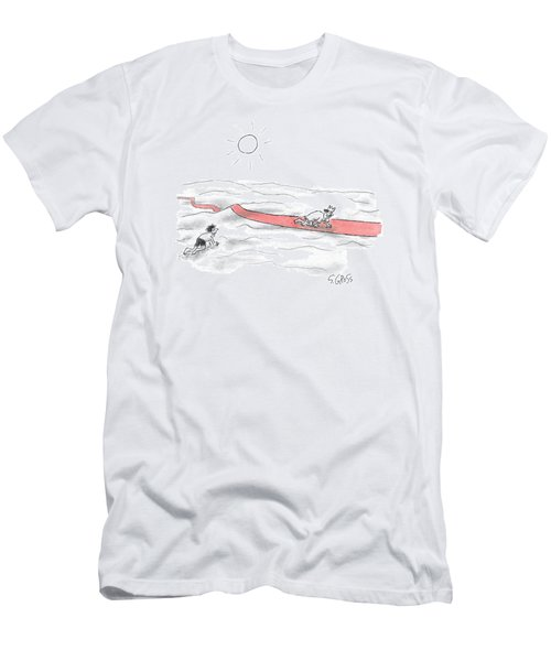 A Man Crawls Across The Desert Men's T-Shirt (Athletic Fit)