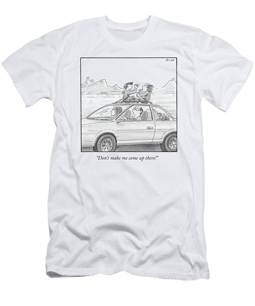 A Man Drives A Car Men's T-Shirt (Athletic Fit)