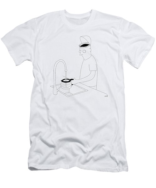 A Man Filling Up His Coffee Pot Men's T-Shirt (Athletic Fit)