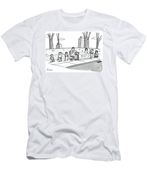 A Man Holding A Syringe Sits At A Stand Men's T-Shirt (Athletic Fit)