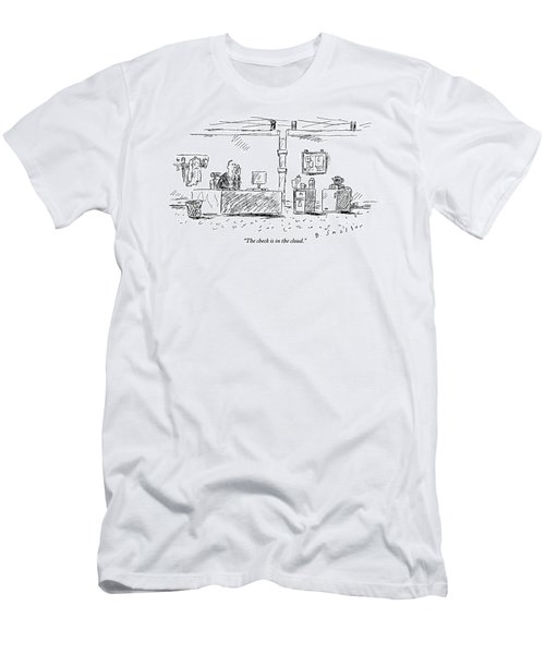 A Man In An Office Men's T-Shirt (Athletic Fit)