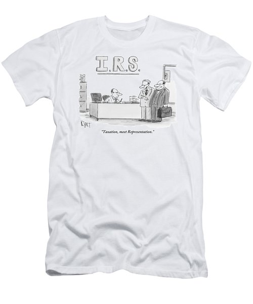 A Man Introduces A Lawyer To An Irs Agent Men's T-Shirt (Athletic Fit)