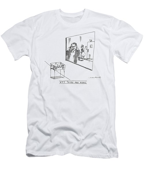 A Man Is Seen Making Funny Faces Men's T-Shirt (Athletic Fit)