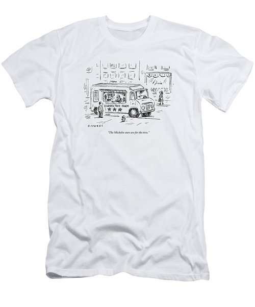 A Man Operating A Food Truck Speaks To A Customer Men's T-Shirt (Athletic Fit)