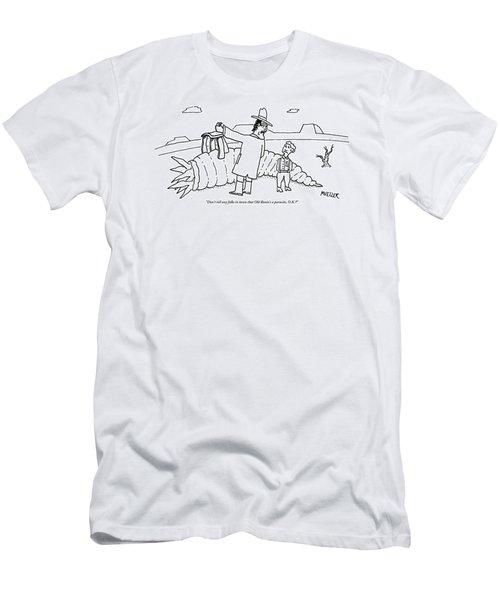 A Man Riding Through A Western Landscape Men's T-Shirt (Athletic Fit)