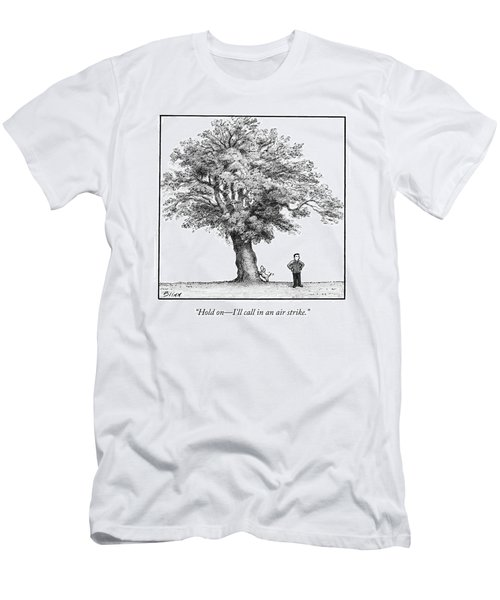 A Man Says To His Dog Men's T-Shirt (Athletic Fit)