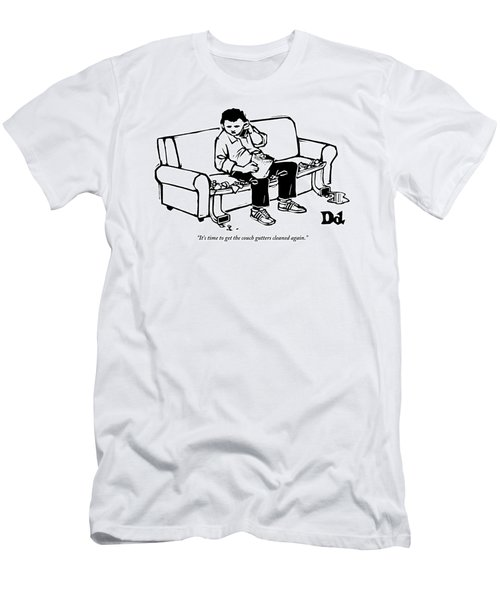 A Man Talking The Phone Men's T-Shirt (Athletic Fit)