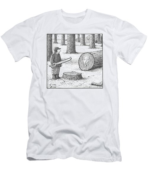 A Man Who Has Just Cut Down A Tree Sees That Men's T-Shirt (Athletic Fit)