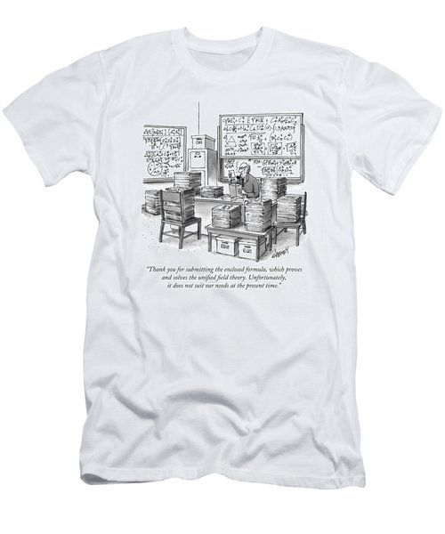 A Mathematician In A Room Full Of Stacked Papers Men's T-Shirt (Athletic Fit)