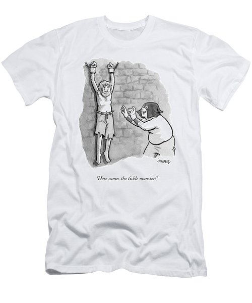 A Medieval Torturer Approaches A Hanging Men's T-Shirt (Athletic Fit)