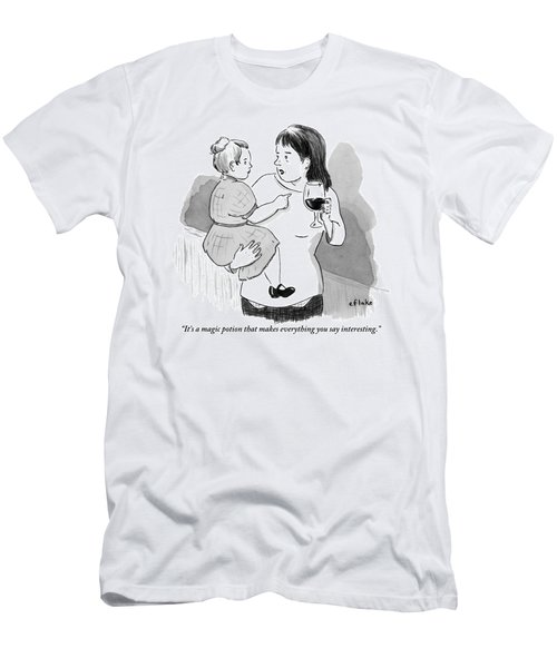 A Mother Explains To Her Young Daughter Who Men's T-Shirt (Athletic Fit)