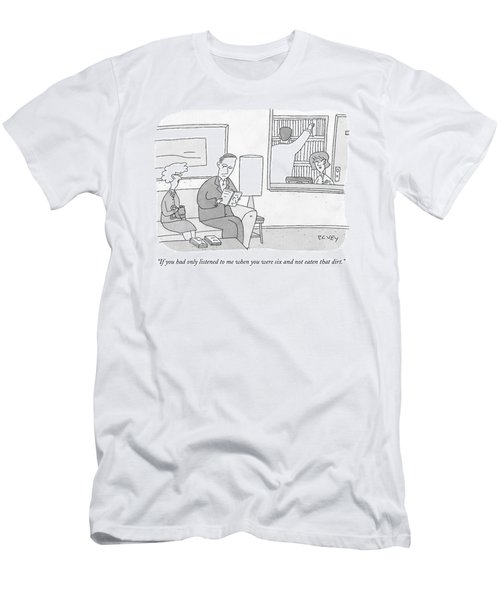 A Mother Speaks To Her Son Men's T-Shirt (Athletic Fit)
