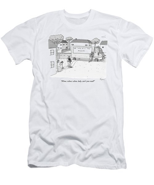 A Mover From A Company Called One-thing-at-a-time Men's T-Shirt (Athletic Fit)