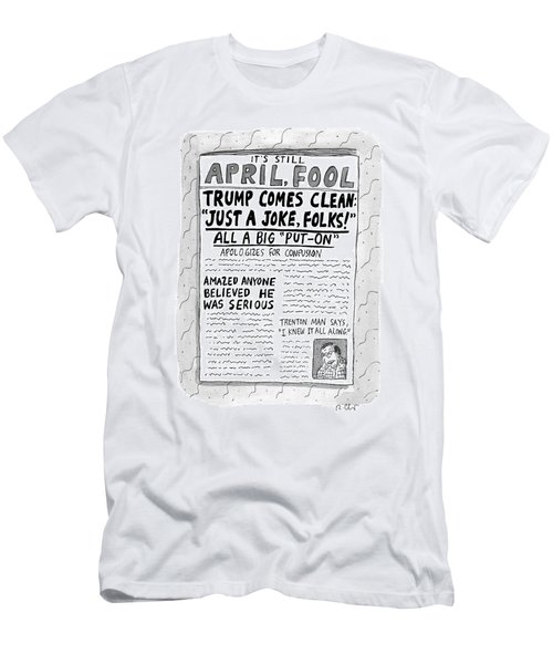 A Newspaper Front Page About Donald Trump's Men's T-Shirt (Athletic Fit)