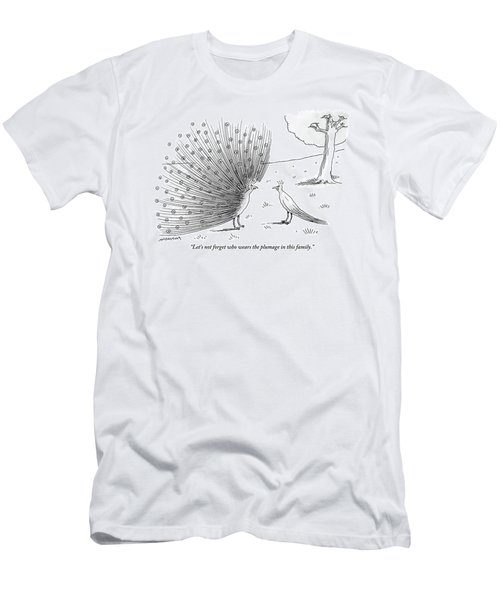 A Peacock With A Massive Coat Yells Men's T-Shirt (Athletic Fit)