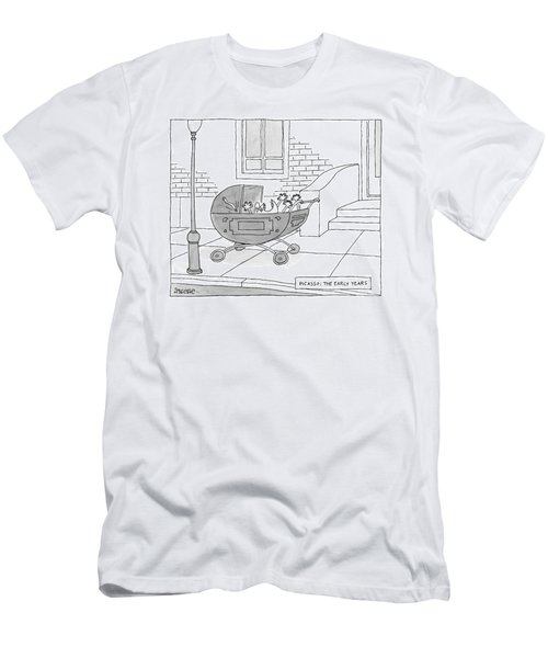 A Perambulator Containing A Crying Baby Picasso Men's T-Shirt (Athletic Fit)