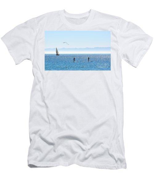 A Perfect Santa Barbara Day Men's T-Shirt (Slim Fit)