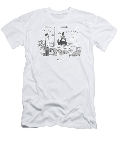 A Pilgrim In A Bar Speaks To The Bartender Men's T-Shirt (Athletic Fit)