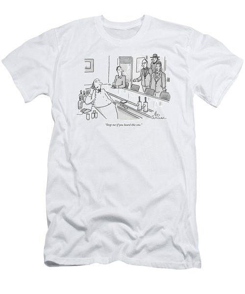 A Rabbi A Preiest And A Minister Walk Into A Bar Men's T-Shirt (Athletic Fit)