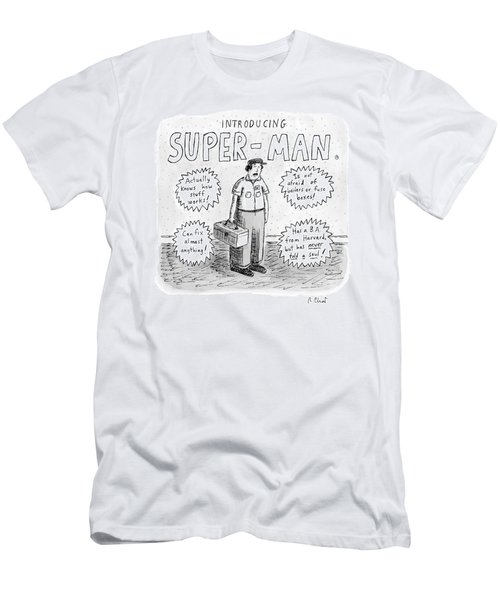A Repair Man Is Introduced As Super-man Men's T-Shirt (Athletic Fit)