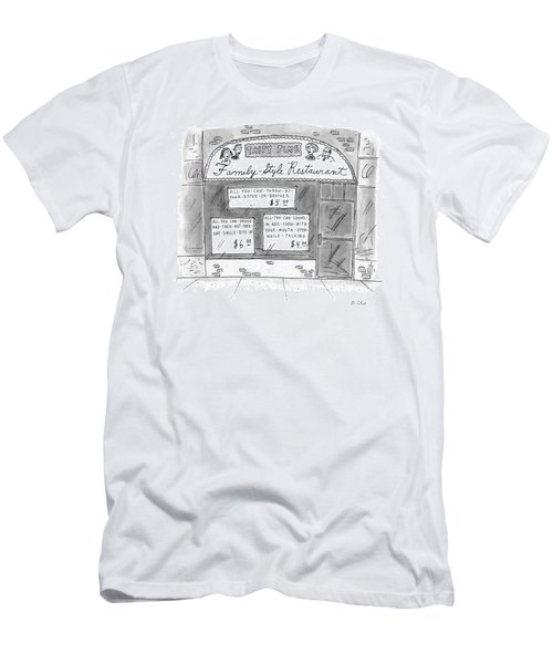 A Restaurant With Various Signs Men's T-Shirt (Athletic Fit)