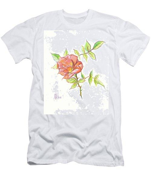 A Rose In Brigadoon Men's T-Shirt (Slim Fit) by Kip DeVore
