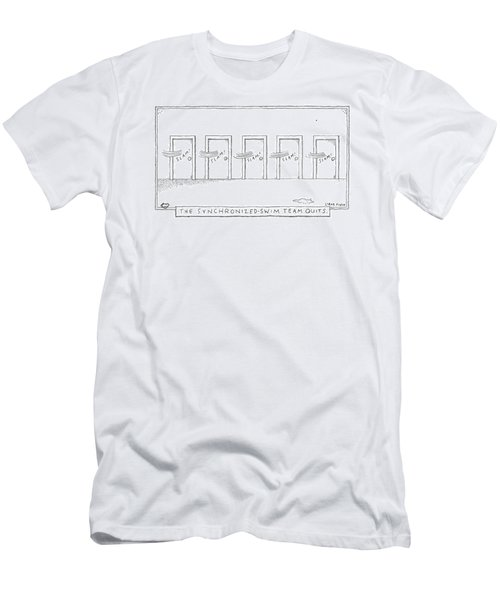 A Row Of Doors Slam Closed At The Exact Same Men's T-Shirt (Athletic Fit)