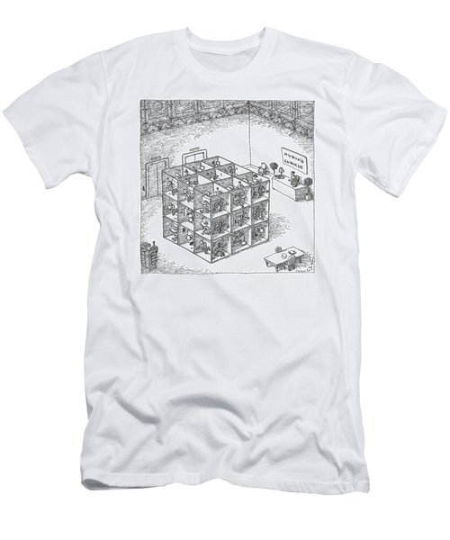 A Rubik's Cube Comprised Of Cubicles With Workers Men's T-Shirt (Athletic Fit)