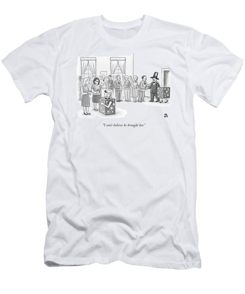 A Sawed-in-half Magician's Assistant Scowls Men's T-Shirt (Athletic Fit)