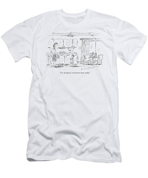 A Schoolboy Speaks To His Mother In The Kitchen Men's T-Shirt (Athletic Fit)