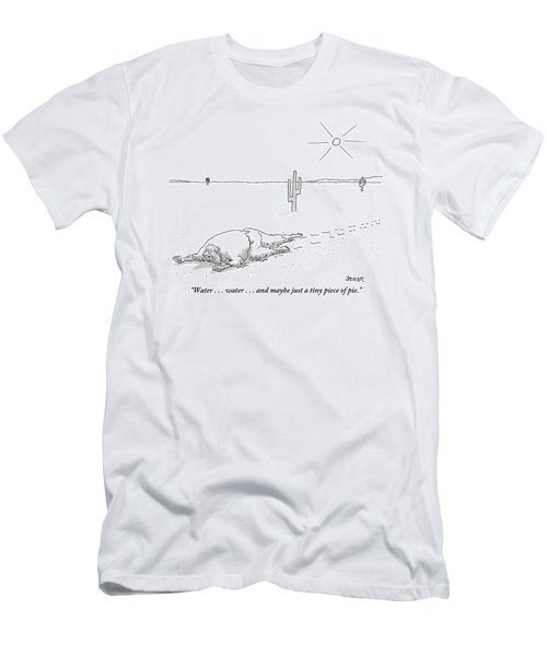 A Scruffy-looking Man Crawls Through The Desert Men's T-Shirt (Athletic Fit)