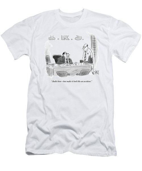 A Shady Looking Irs Agent Talks To Another Men's T-Shirt (Athletic Fit)