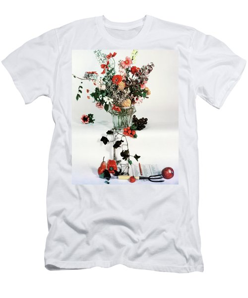 A Studio Shot Of A Vase Of Flowers And A Garden Men's T-Shirt (Athletic Fit)