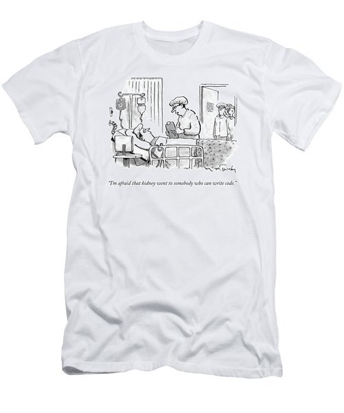 A Surgeon Talks To A Sick Patient In A Hospital Men's T-Shirt (Athletic Fit)