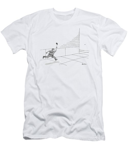 A S.w.a.t Team Member Is Running Down The Block Men's T-Shirt (Athletic Fit)
